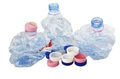 flaskplast- återanvänder Royaltyfria Foton