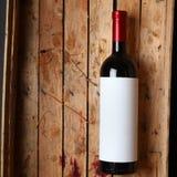 flaskrött vin Arkivfoto