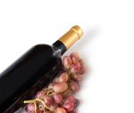 flaskrött vin Royaltyfria Bilder