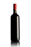 flaskrött vin Arkivbild