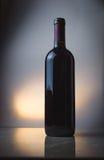 flaskrött vin Arkivbilder
