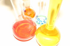 Flasks stock image