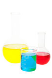 Flasks and Beaker Stock Photography