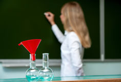 Flasks for chemistry Stock Photos