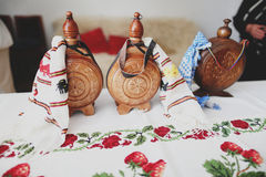 Free Flasks Of Brandy Stock Photography - 61127282