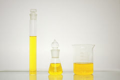 Flasks and other laboratory glassware Royalty Free Stock Photo