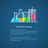 Flasks and Test-tube, Poster Royalty Free Stock Photo