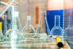 Flasks and test tubes Stock Photography
