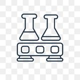 Flasks vector icon isolated on transparent background, linear Fl vector illustration