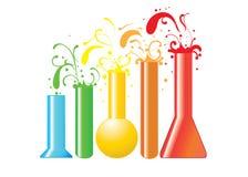 Flasks on white vector illustration