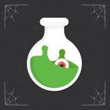 Flasksymbolsvektor Royaltyfri Foto