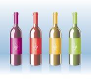 flaskvektor stock illustrationer