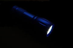 Flaslight bleu Images libres de droits