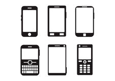 Flat abstract mobile gadgets black Stock Photography