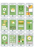 Flat abstract mobile gadgets interface Stock Images