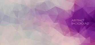 Flat abstract polygonal banner. Vector Background Royalty Free Stock Photo