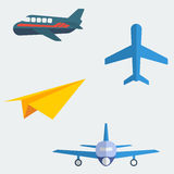 Flat Aeroplanes. Editable aeroplanes vector illustration in flat style Royalty Free Stock Photos
