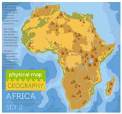 Flat Africa physical map constructor elements on the water surface. Build your own geography infographics collection. Vector illustration vector illustration