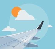 Flat airplane illustration Royalty Free Stock Photography