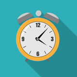 Flat Alarm Clock Icon Vector Illustration Royalty Free Stock Images