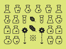 Flat Alchemy Icons Stock Photography