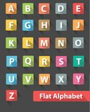 Flat alphabet icons,Colorful version Royalty Free Stock Photography