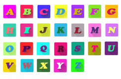 Flat alphabet icons Royalty Free Stock Photo