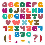 Flat Alphabet set Stock Images