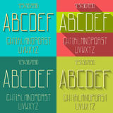 Flat alphabet set Royalty Free Stock Images