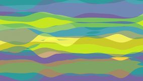 Flat animation with stripe wave. Seamless loop stock video