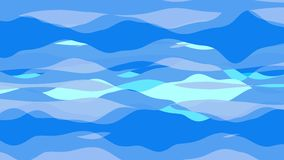 Flat animation with stripe wave. Seamless loop stock footage