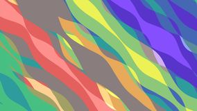 Flat animation with stripe wave. Seamless loop stock video footage