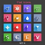 Flat Application Icons Set 8 Royalty Free Stock Image