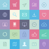 Flat application icons set Stock Photography