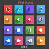 Flat Application Icons Set 9 Stock Photo