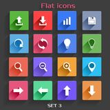 Flat Application Icons Set Royalty Free Stock Images