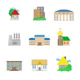 Flat Architecture icons Royalty Free Stock Photo