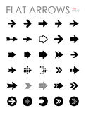 Flat arrow icons set, modern design Stock Image
