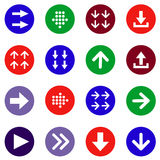 Flat arrow icons set Royalty Free Stock Photography