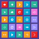 Flat arrow icons Stock Images