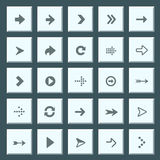 Flat arrow icons Royalty Free Stock Photos