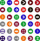 Flat arrow icons Royalty Free Stock Image