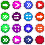 Flat arrow icons Royalty Free Stock Photo