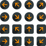 Flat arrow icons. Stock Image