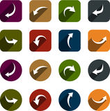 Flat arrow icons. Stock Photography