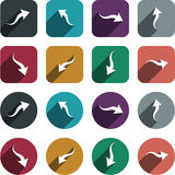 Flat arrow icons. Royalty Free Stock Images