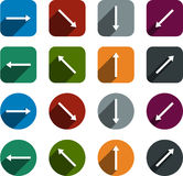 Flat arrow icons. Royalty Free Stock Photos
