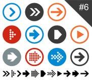 Flat arrow icons. stock image