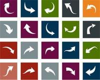 Flat arrow icons. Royalty Free Stock Image