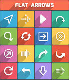 Flat arrows for web and mobile. Vector Stock Images